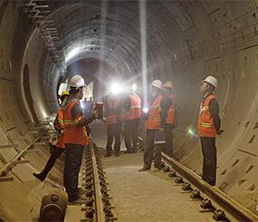 地铁隧道使用慕乐无机涂料
