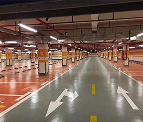 无机涂料地下停车场及人防工程