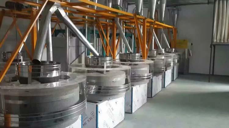 石磨面粉机械的加工工艺是影响面粉白度的重要因素