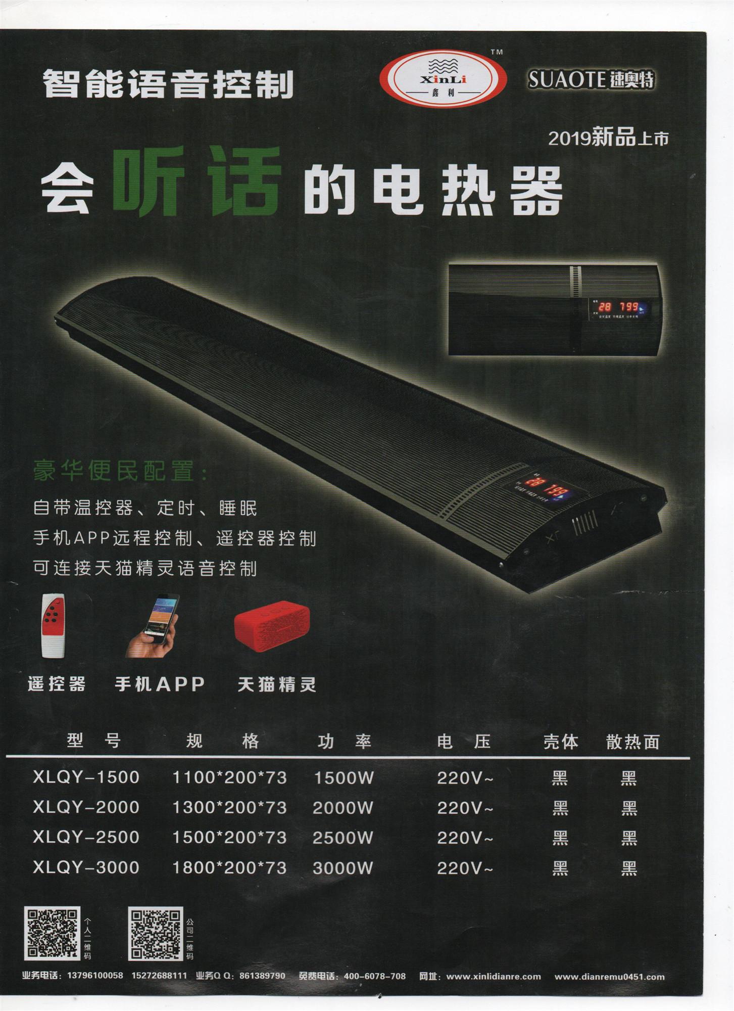 智能语音型电热器