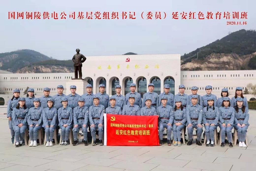 延安红色培训:国网铜陵供电公司基层党组织书记(委员)延安红色教育培训班