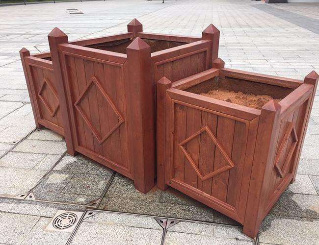 防腐木花箱