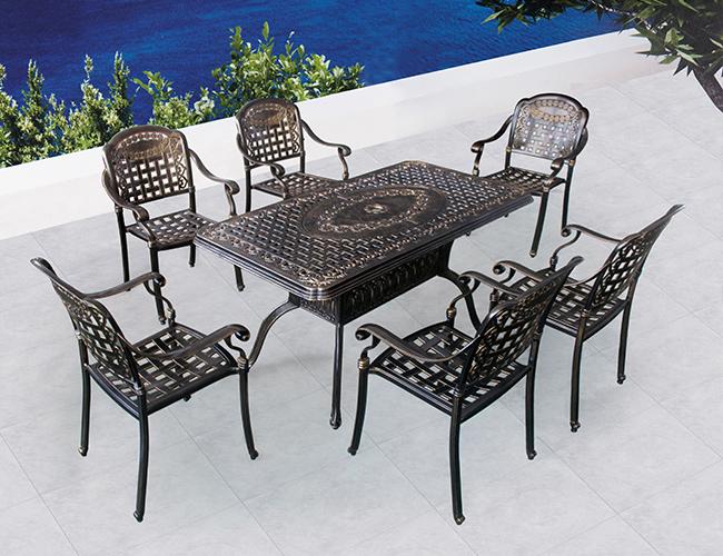 户外铸铝桌椅