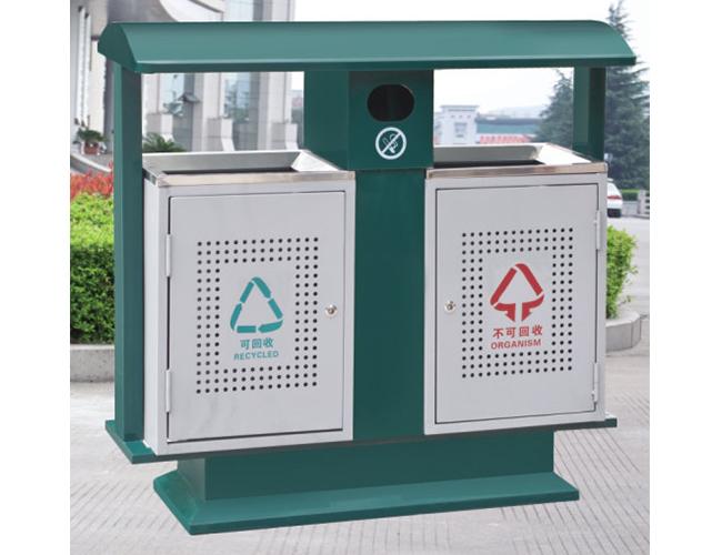 户外绿色环保垃圾桶