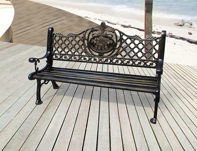 庭院铸铁长椅