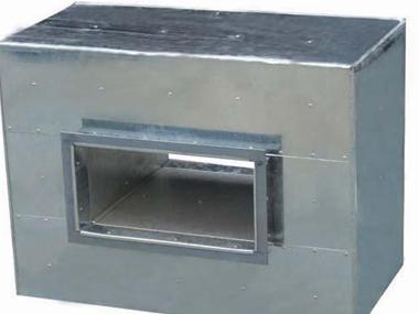 柜式离心风机箱的进出风口的设置方法。