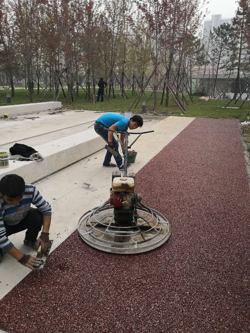 西安胶粘石混凝土地坪