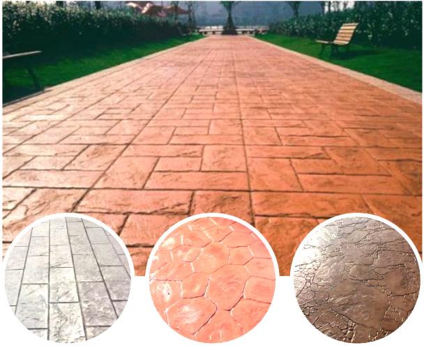 西安彩色艺术压膜地坪