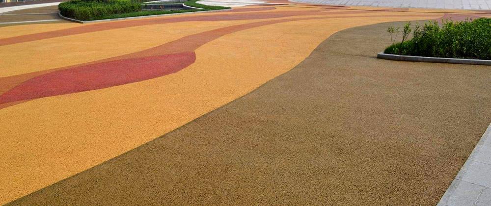彩色露骨料透水混凝土路面