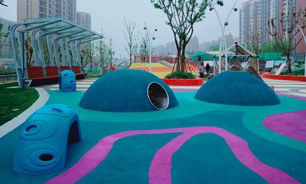 西咸新区社区混凝土艺术地坪
