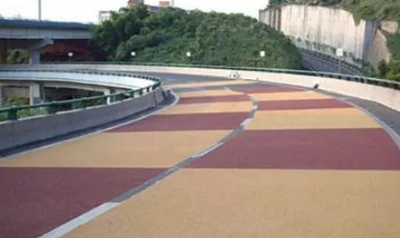 西安彩色防滑路面工程