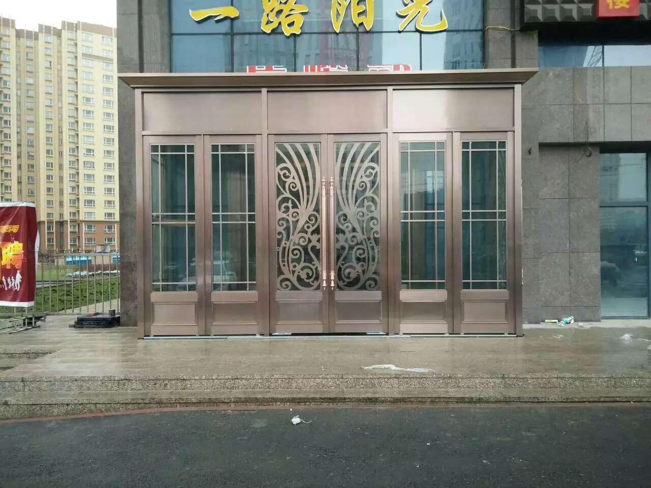 乌鲁木齐不锈钢酒店门安装