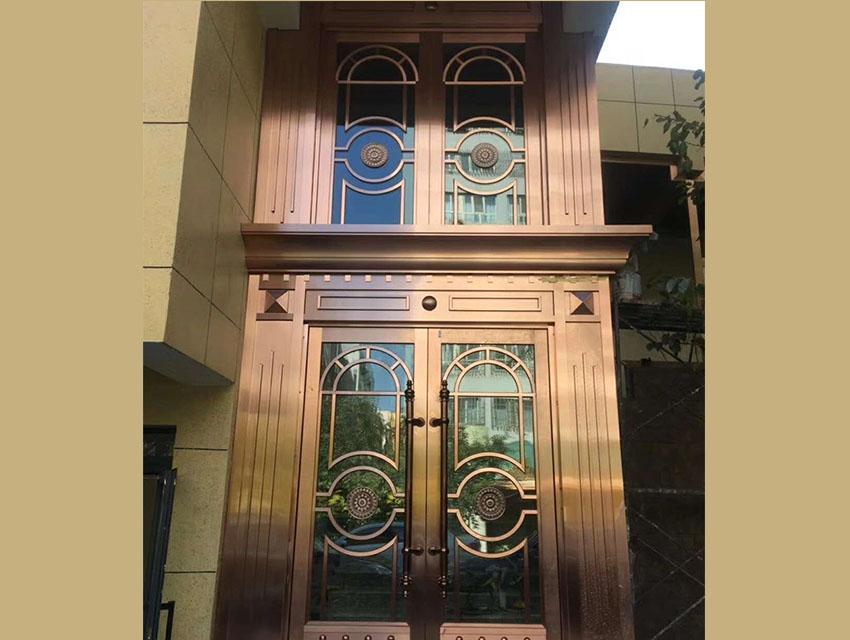 乌鲁木齐酒店不锈钢门设计
