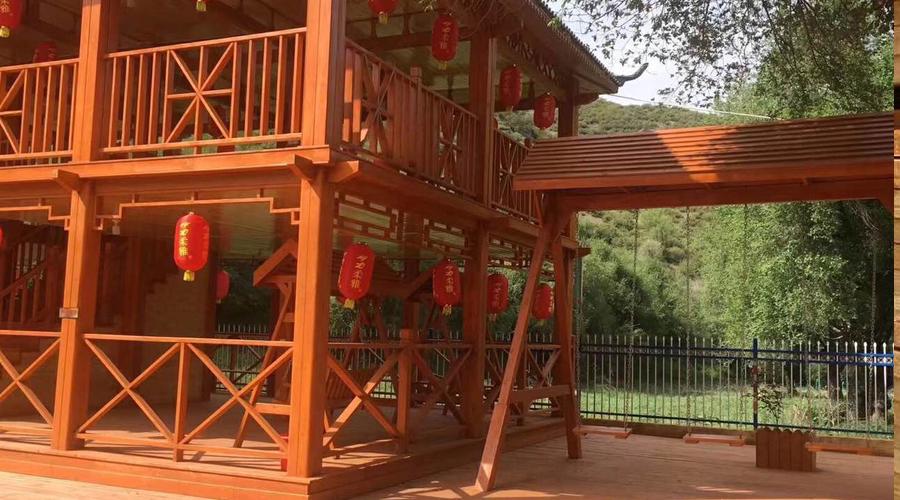 防腐木园林建设