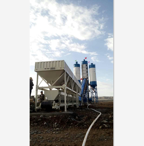 HZS60全自动混凝土搅拌站