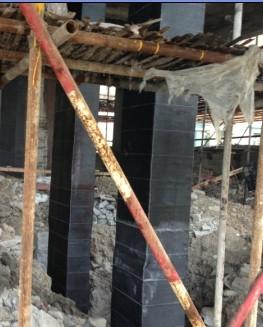 碳纤维加固柱施工流程