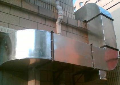 酒店油烟机外墙竖管