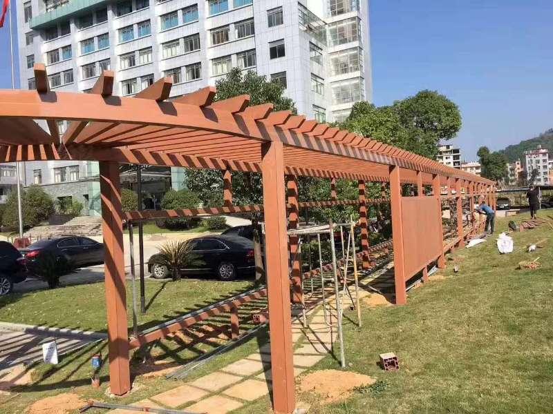 防腐木廊架工程