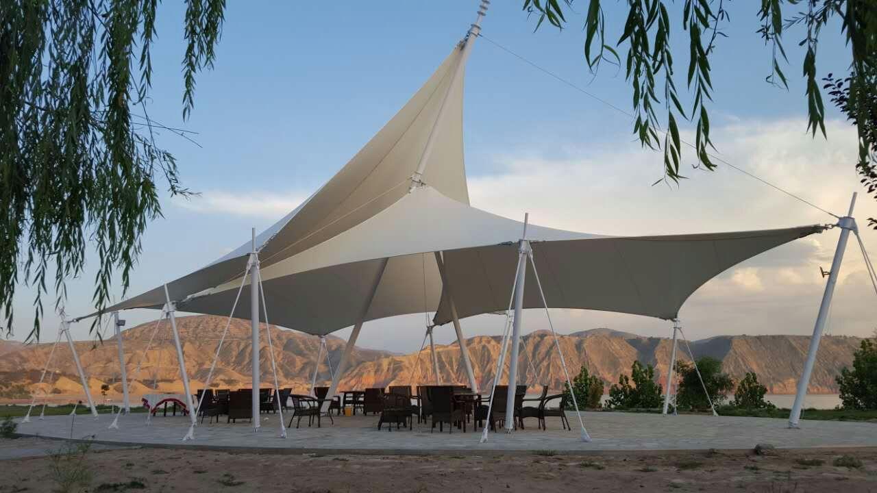 新疆136团生态广场景观膜结构