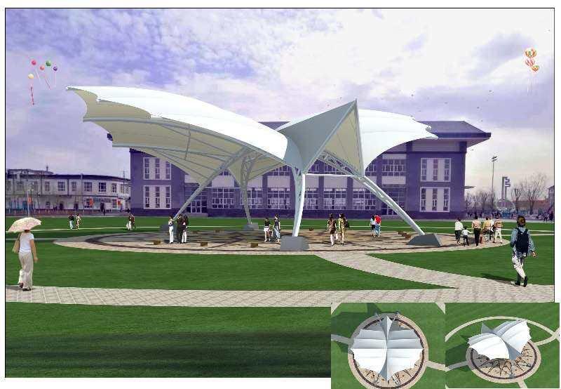 广场景观膜结构设施