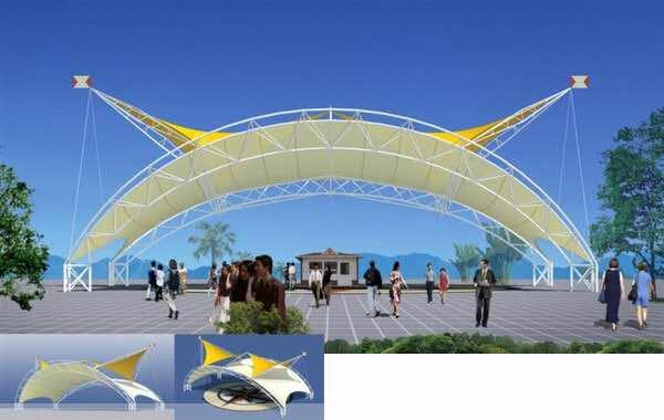 广场景观膜结构2