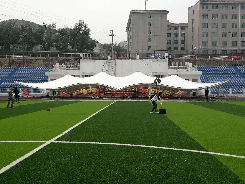 体育馆膜结构遮阳施工