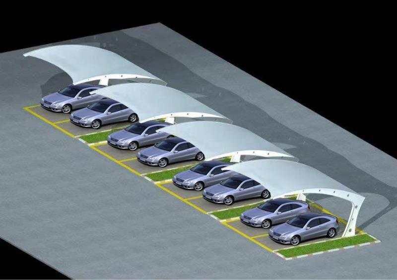 车棚膜结构造型