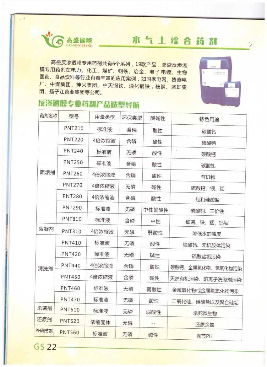 水气土综合药剂销售