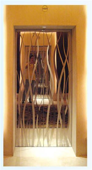 美菱达服务电梯厅门装饰展示