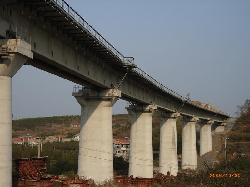 铁路桥墩模板中铁六局库车至阿克苏铁路应用