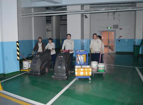 大型停车厂清洗