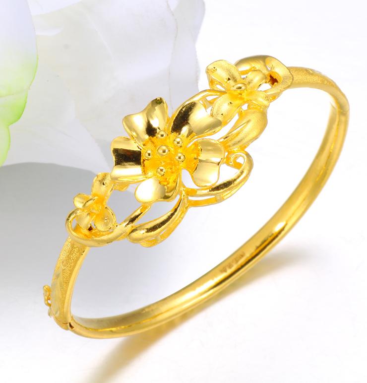 黄金花式手镯
