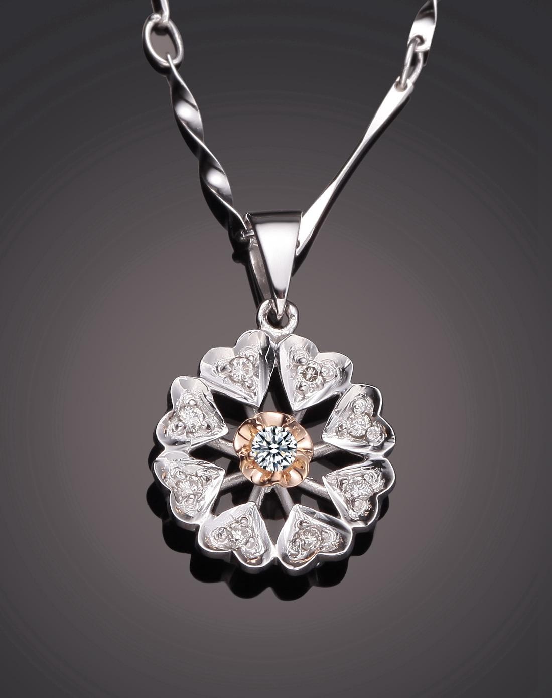 鑽石圆形吊坠