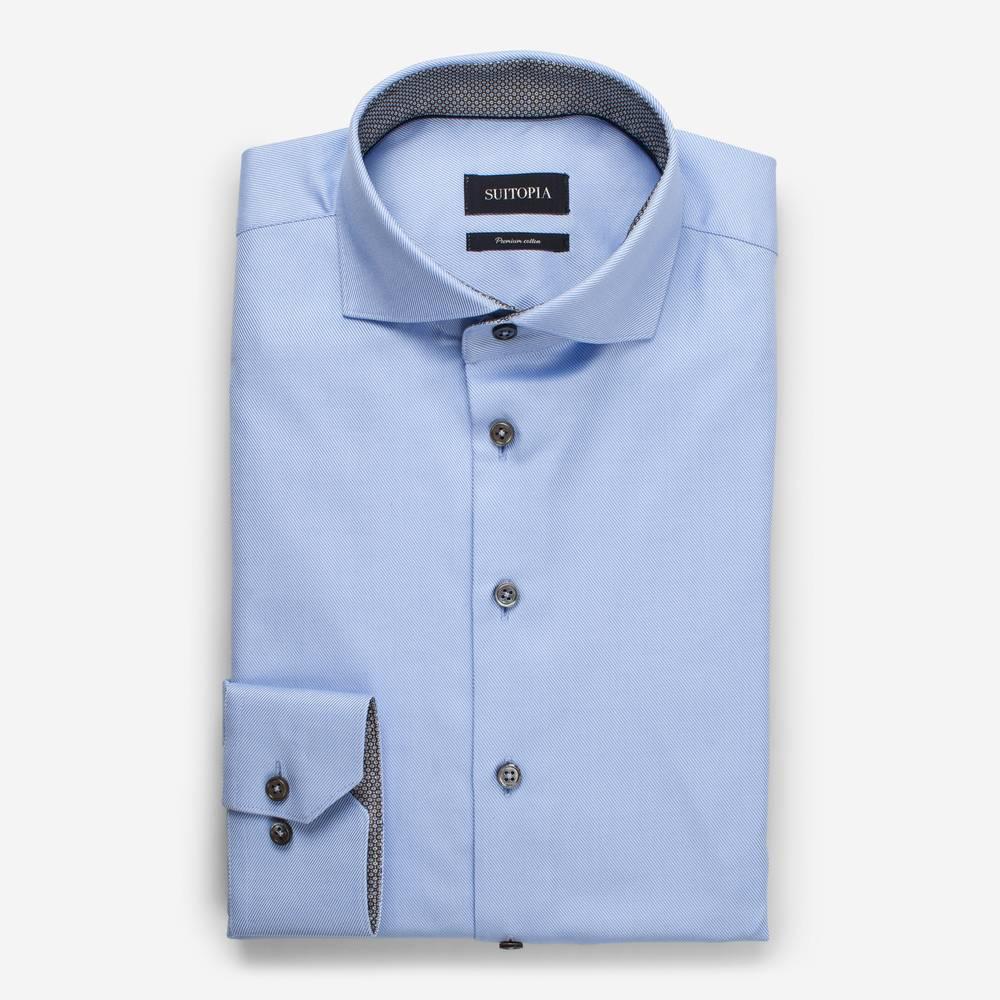戴尔浅蓝色骑兵斜纹衬衫