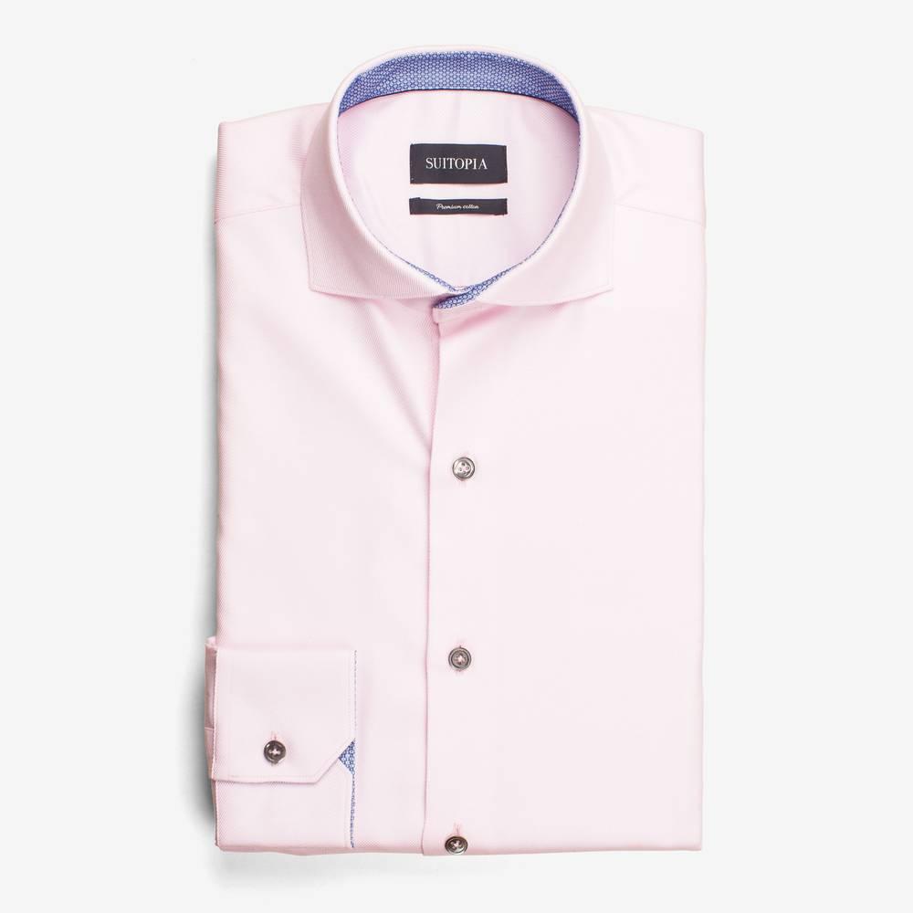 戴尔粉色骑士斜纹衬衫