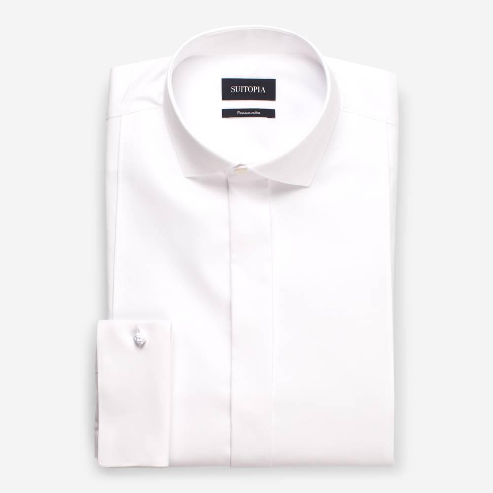 兰卡斯特白色围兜衬衫