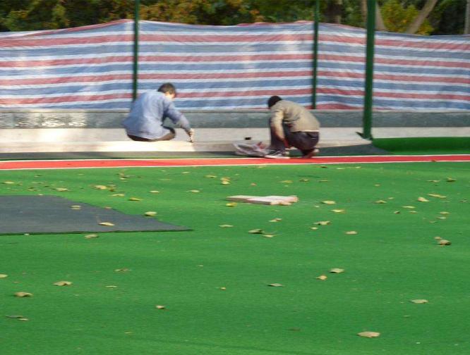 人造草坪施工案例-3
