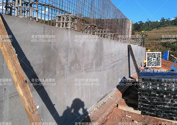 桥台成型效果