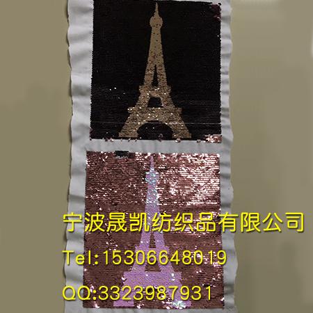 珠子绣铁塔图案