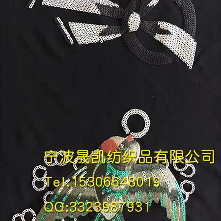 珠子绣燕子图案