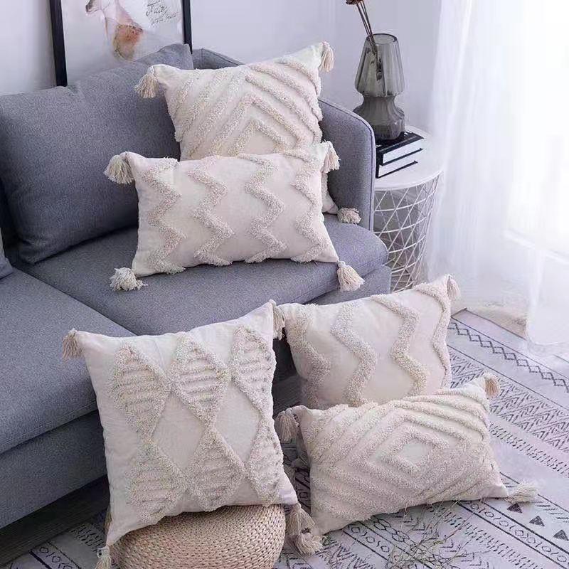 摩洛哥簇绒抱枕
