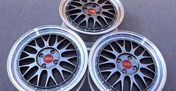 BBS LM 奔驰453 17寸银色加灰色