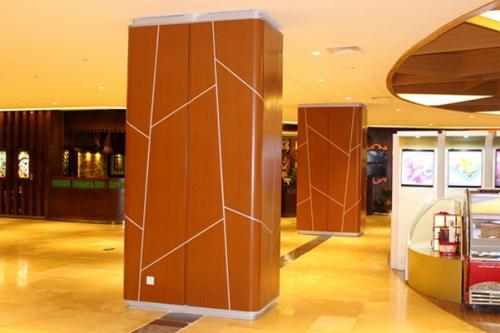 商场包柱木纹铝单板