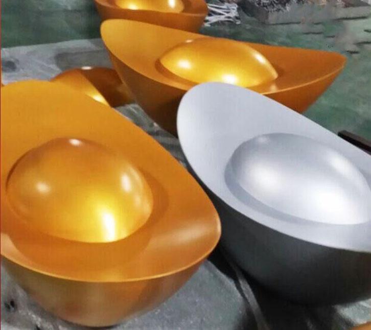 厂家定制双曲铝单板 金元宝银元宝造型双曲铝板