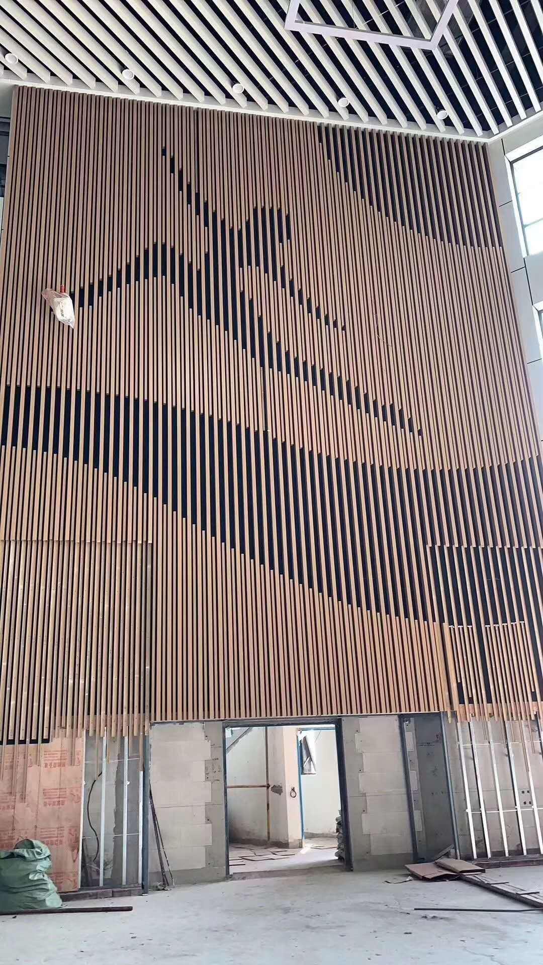 弧形铝天花吊顶u型铝方通