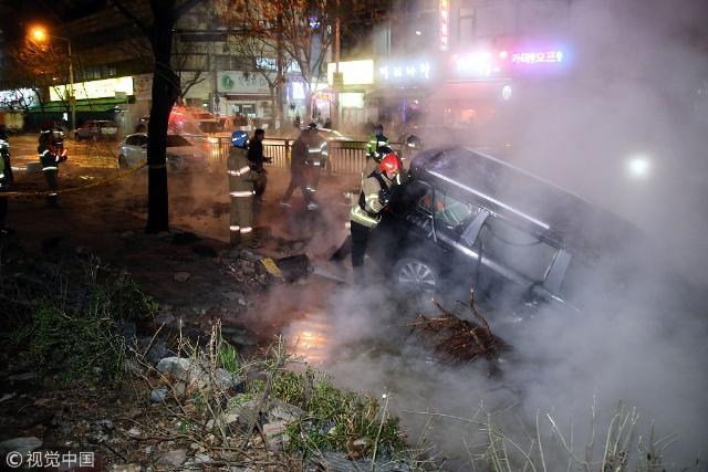 飞来横祸!韩国暖气管道爆裂致1死23伤