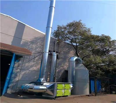 欧利达在某塑料包装印刷厂安装了活性炭+低温等离子废气处理设备