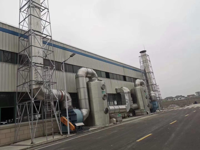 喷淋塔废气处理设备管道的连接方法以及工作原理介绍