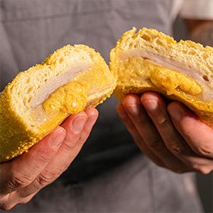 咸蛋黄厚芋泥欧包