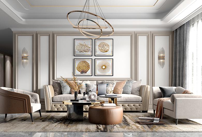 硚口区-中建御景星城   欧式风格  103平方米  三居室